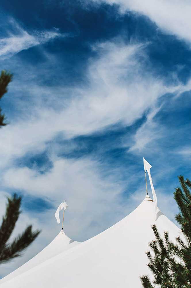 Wedding Tent with Flags